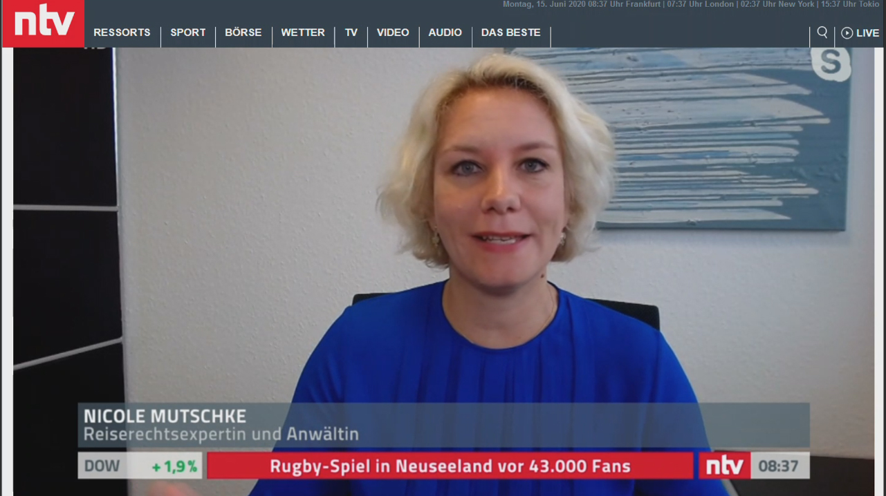 Kanzlei Nicole Mutschke Experte Reiserecht tui lmx fti eti center parcs ntv