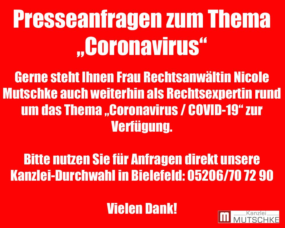 Nicole Mutschke Coronavirus Coronakrise presseanfrage tv experte